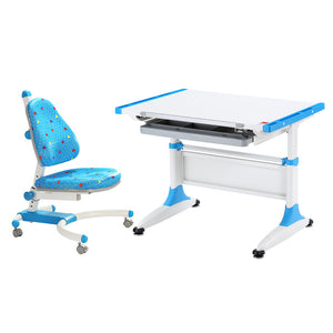 Durer Desk + Enlightening Chair blue set