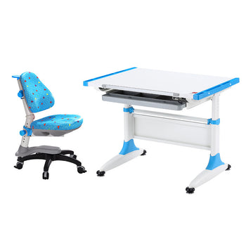 Durer Desk + Cupid Chair blue