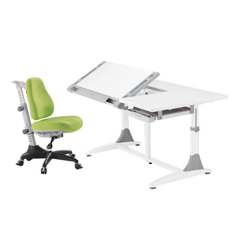 Ergo-Elite Desk + Match Chair green