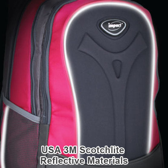 Impact Backpack (IPEG-062) Pink 3M Scotchlite reflective material