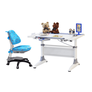 KM2 Desk + K318 Cupid Chair Blue Pyramid