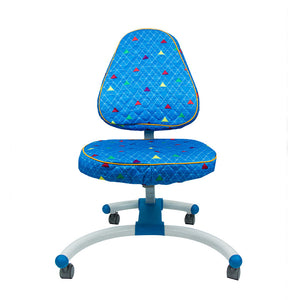 KM Blue Pyramid Chair Cover
