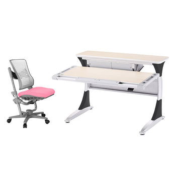 Ergo-Smart Desk + Angel Wing Chair set