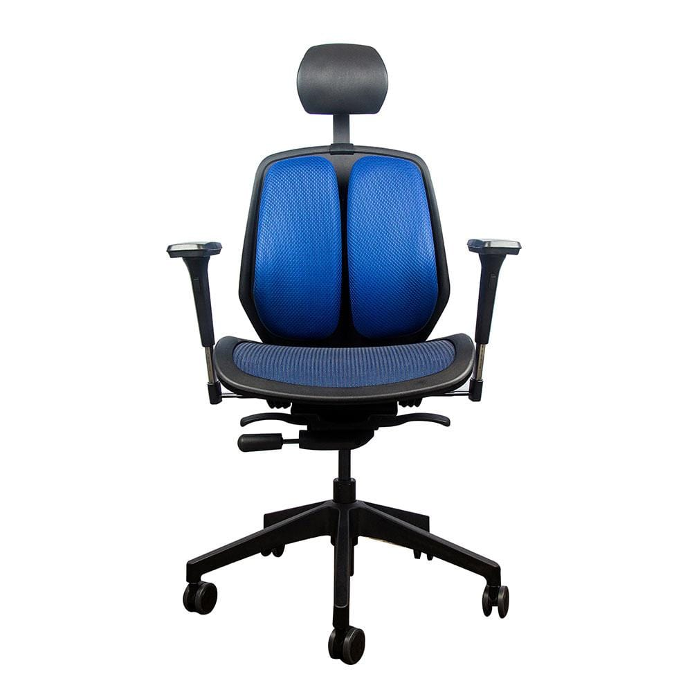 Alpha ergonomic chair mesh blue 2