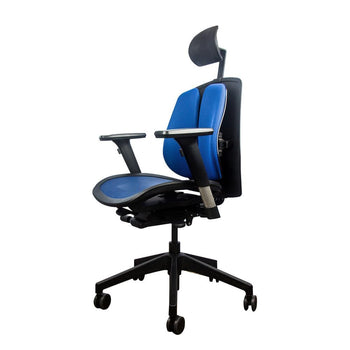 Alpha ergonomic chair mesh blue