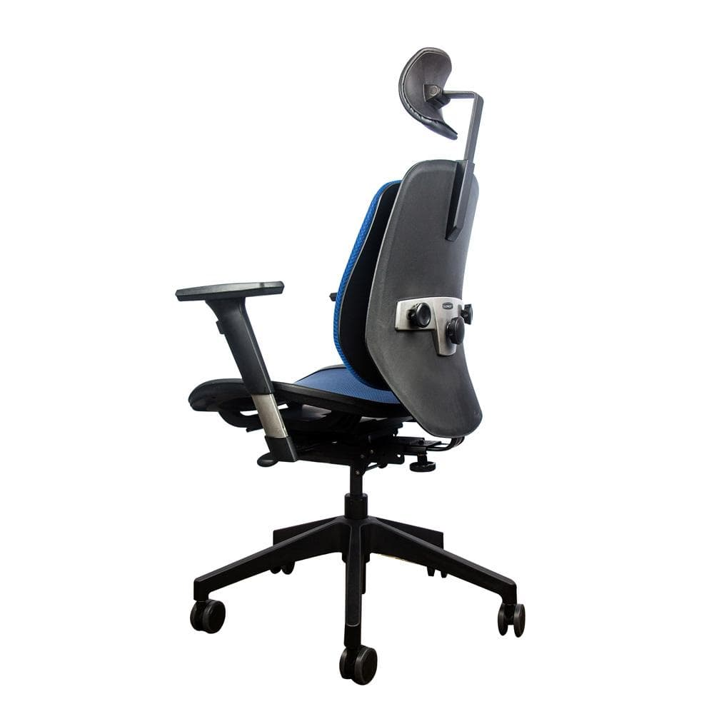 Alpha ergonomic chair mesh blue 4