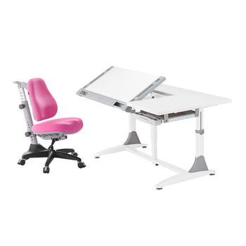Ergo-Elite Desk + Match Chair pink