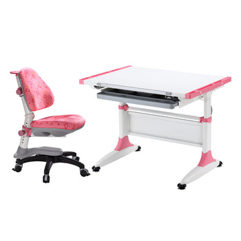 Durer Desk + Cupid Chair pink