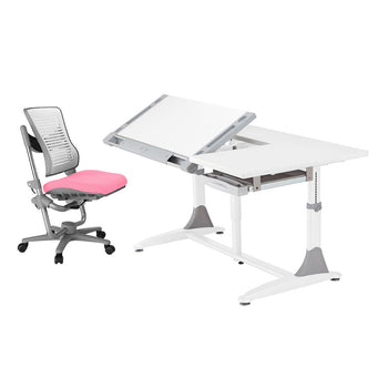 Ergo-Elite Desk + Angel Wing Chair