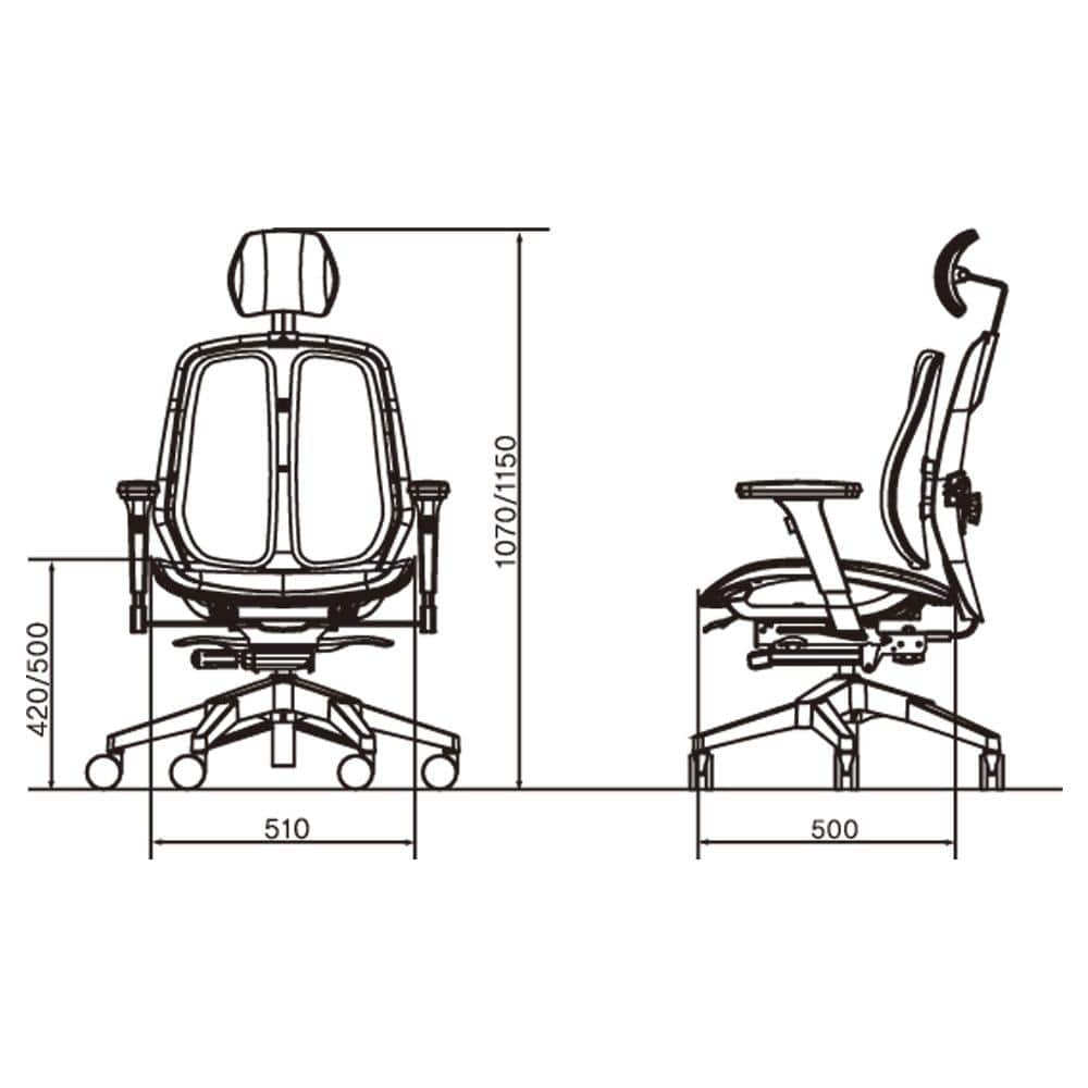 Alpha duorest ergonomic chair size guide
