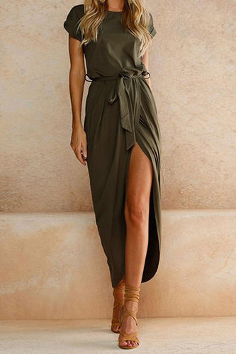 Spring Green Casual Maxi Dress - Malibu Coastal