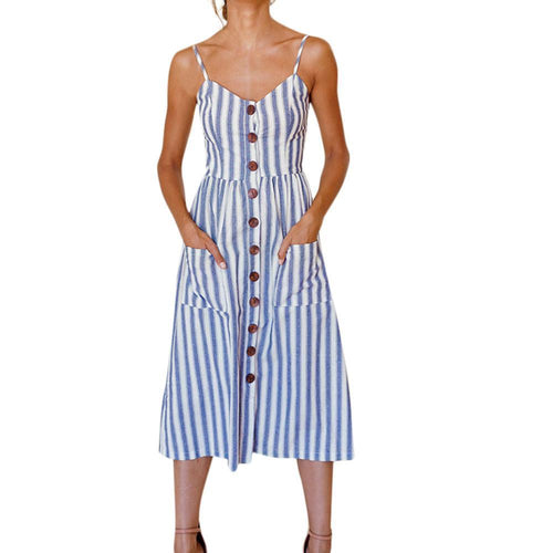 Marchella Dress - Malibu Coastal