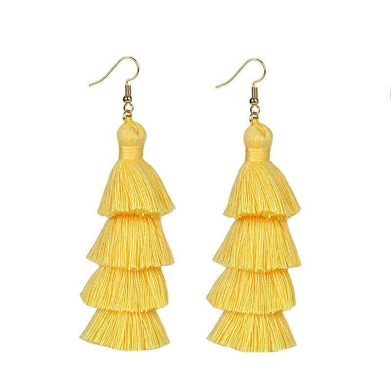 Minka Tassel Earrings - Malibu Coastal