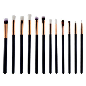 12 - Piece Professional Makeup Brush - Malibu Coastal