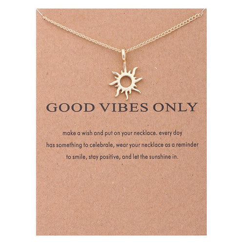 Good Vibes Necklace - Malibu Coastal