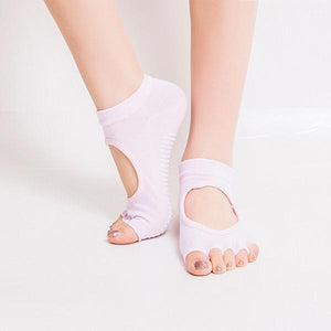 Half Toe Gripper Socks - Malibu Coastal