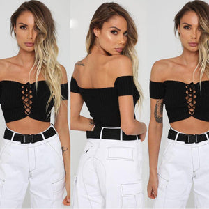 Rita Off Shoulder Top - Malibu Coastal