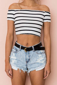 Kelly Sexy Crop Top (Limited Time Offer) - Malibu Coastal