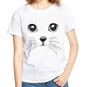 Cat Print T-Shirt - FREE - Malibu Coastal