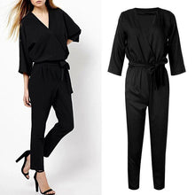 Load image into Gallery viewer, Elegant Black Jumpsuit - Malibu Coastal