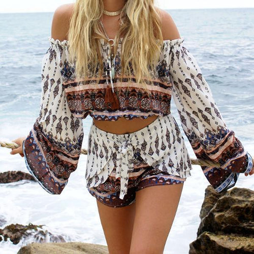 Hindi Two-Pieces Romper - Malibu Coastal