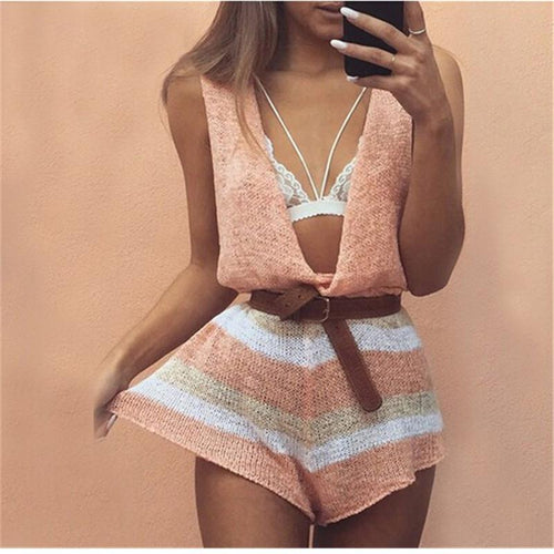 Peach Summer Playsuit - Malibu Coastal