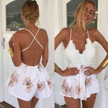 Load image into Gallery viewer, Sweet Flowers Playsuit - Malibu Coastal