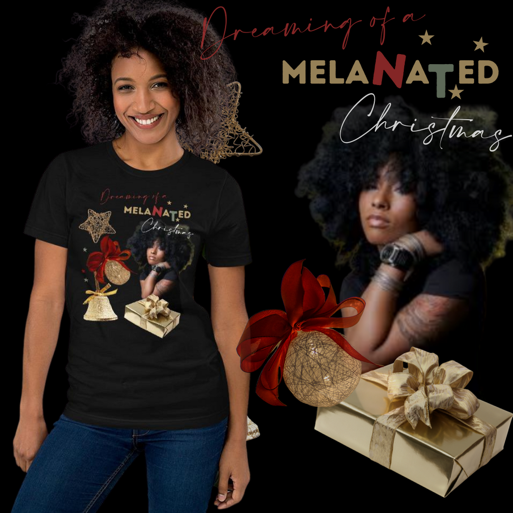 Dreaming of a Melanated Christmas Short-Sleeve Unisex T-Shirt