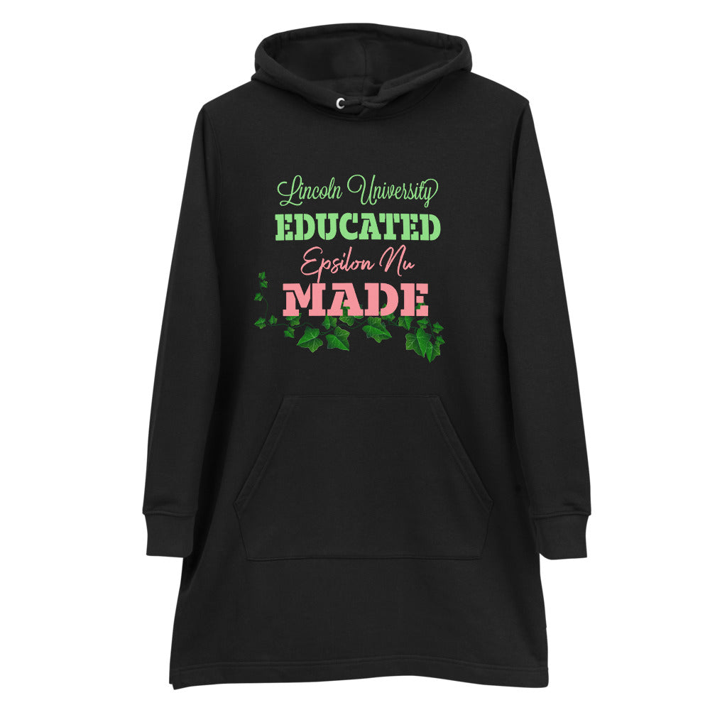 Lincoln University Educated Epsilon Nu Chapter Made Hoodie dress