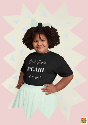 Grand Pop's PEARL of a Girl WHITE Toddler Short Sleeve Tee