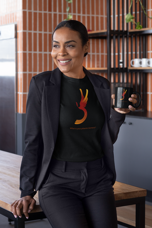 Phoenix Rising Moment Logo with Tagline Short-Sleeve Unisex T-Shirt