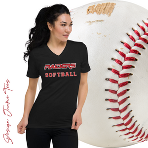 RAIDERS Softball MILLER 4 Unisex Short Sleeve V-Neck T-Shirt
