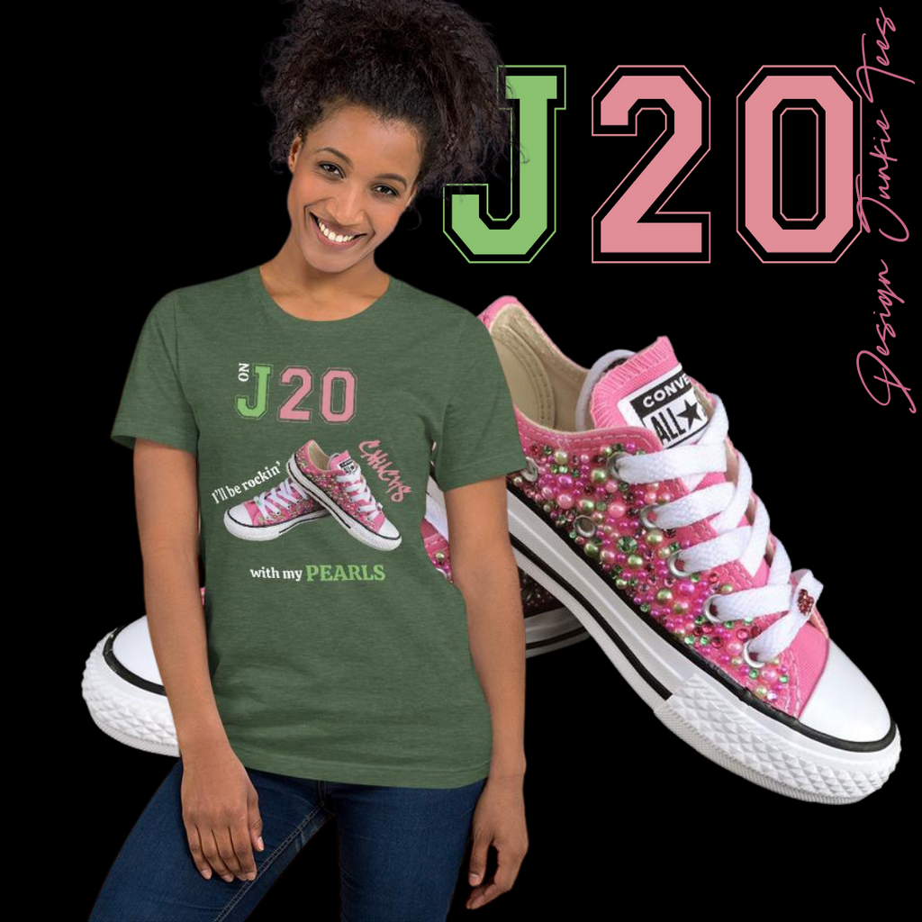 On J20 Chucks and Pearls Short-Sleeve Unisex T-Shirt