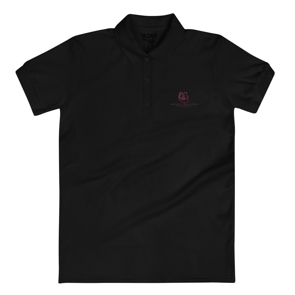 Tranquil Solutions Embroidered Women's Polo Shirt - Pink Embroidery