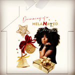 Dreaming of a Melanated Christmas Metal Ornaments House
