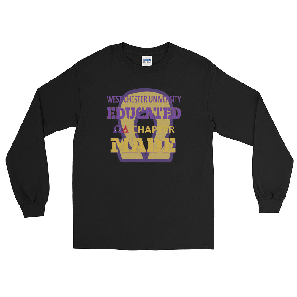 West Chester University Educated Omega Delta Chapter Made Men's Long Sleeve Shirt