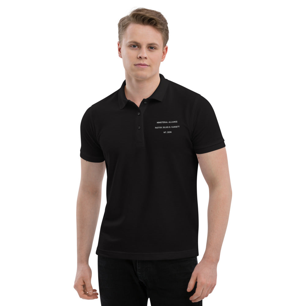 Ministerial Alliance Men's Premium Black Polo