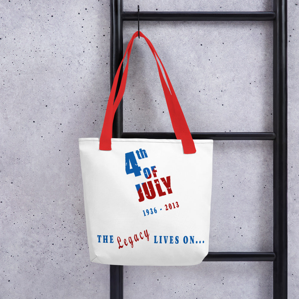 The Legacy Lives On Tote bag