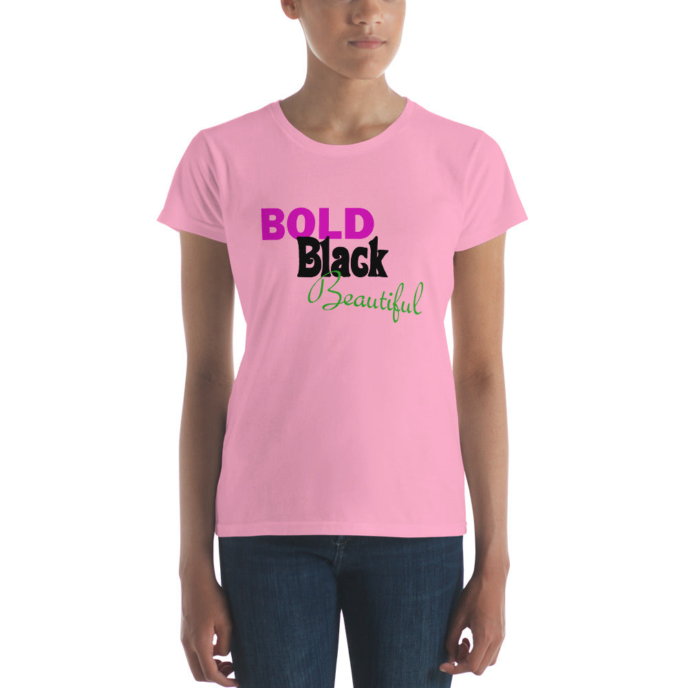 Bold Black Beautiful Women's short sleeve t-shirt