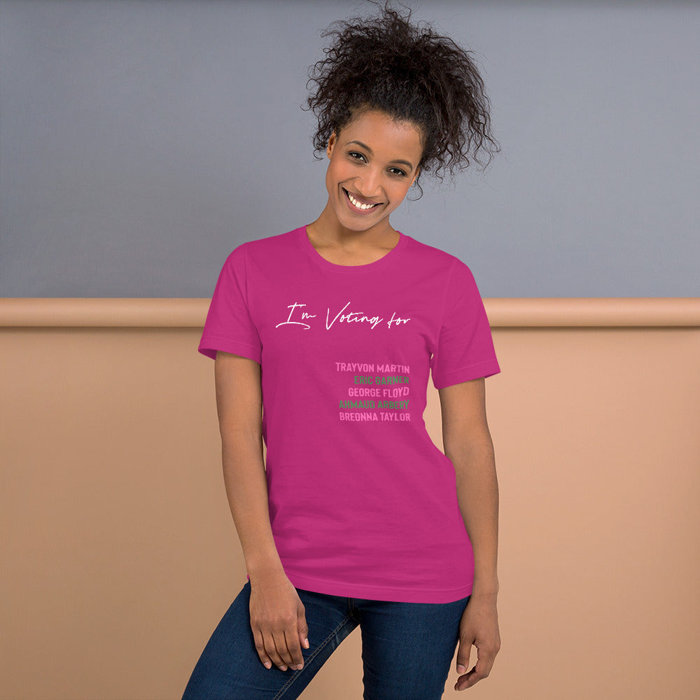 I'm Voting For... Color Short-Sleeve Unisex T-Shirt