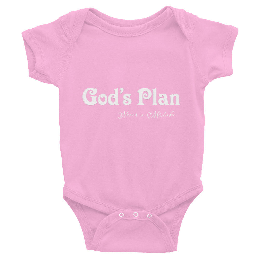 God's Plan Never a Mistake Infant Bodysuit