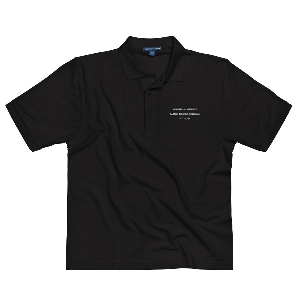 James K Williams Ministerial Alliance Men's Premium Black Polo