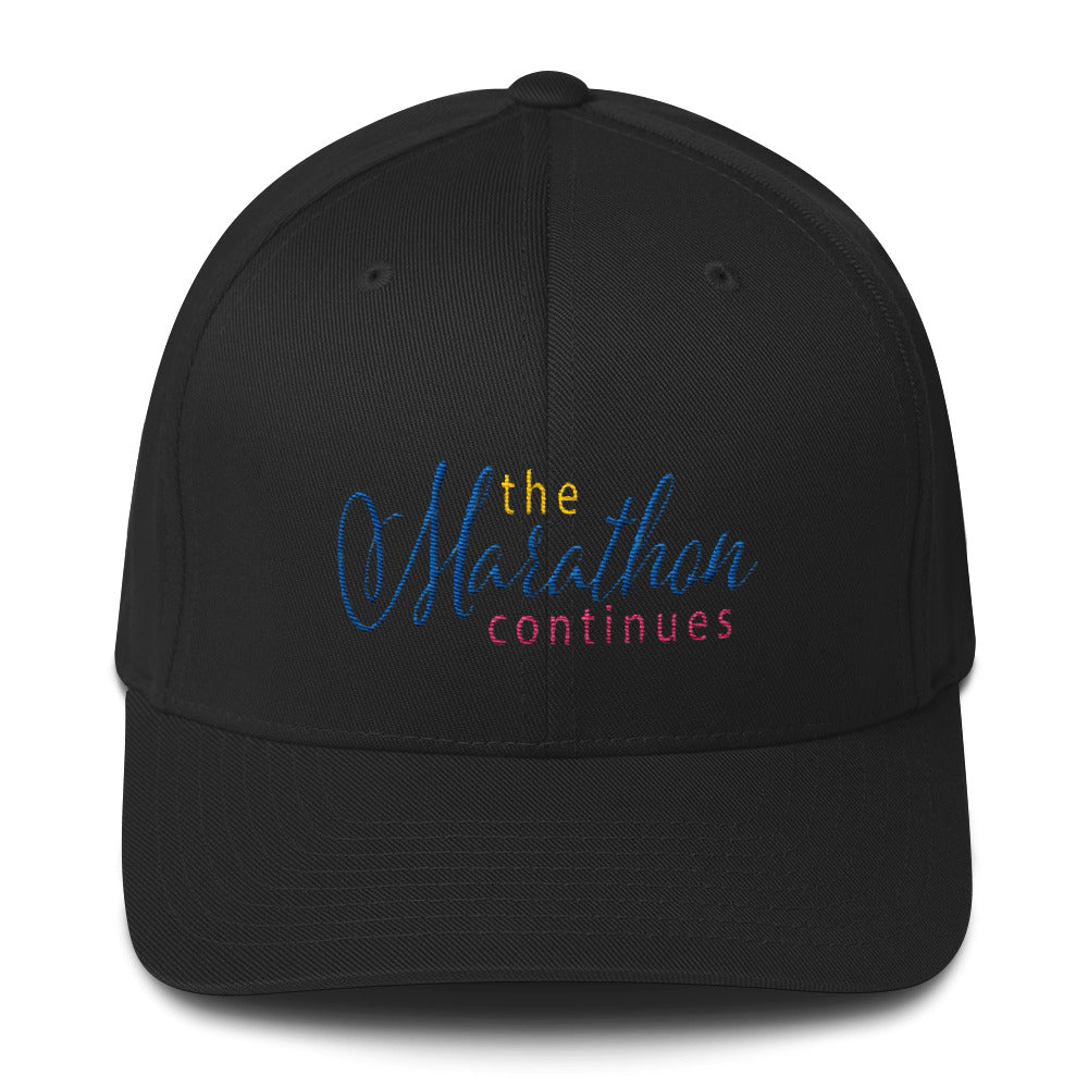 The Marathon Continues II Flexfit Structured Cap