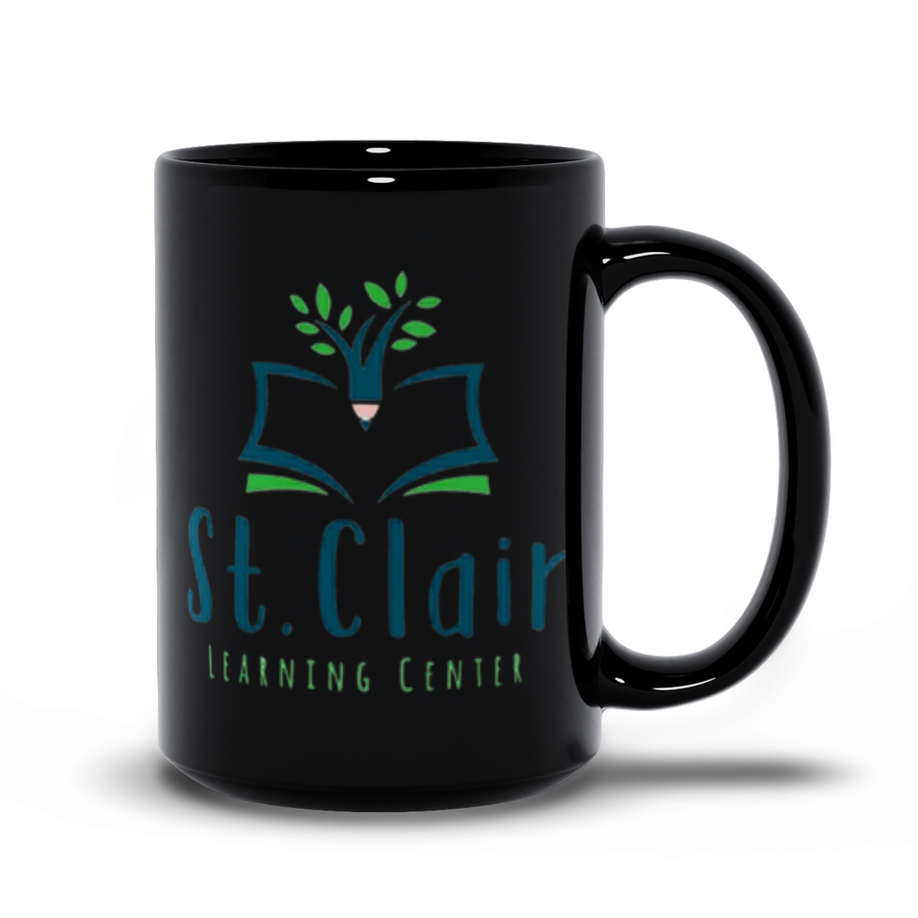 St. Claire Learning Center Black Mug