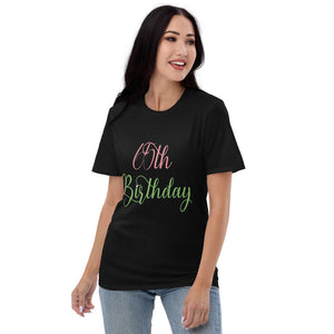 65th Birthday Short-Sleeve T-Shirt