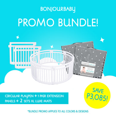 Bundle: Playpen, Extensions and (2) XL Luxe Mats