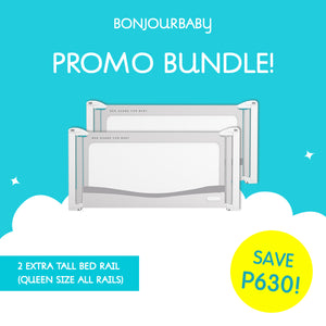 Bundle: 2 Extra Tall Bed Rail (180cm all rails)