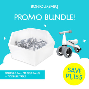 Bundle: Foldable Ball Pit & Toddler Trike