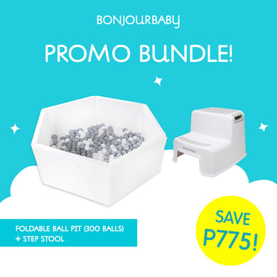 Bundle:  Foldable Ball Pit & Step Stool