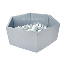 Foldable Grey Ball Pit with 300 balls